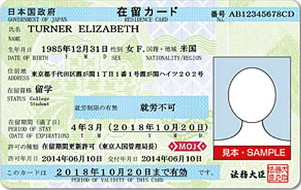 What is a Zairyu Card/Residence Card?